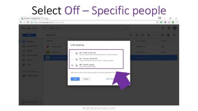 Select Off – Specific people © 2016 jmumali.com