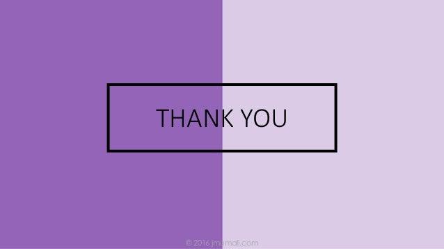 © 2016 jmumali.com THANK YOU
