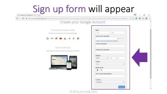 Sign up form will appear © 2016 jmumali.com