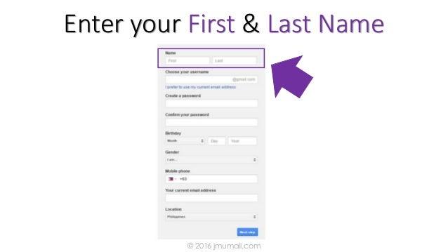 Enter your First & Last Name © 2016 jmumali.com
