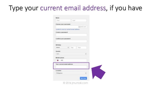 Type your current email address, if you have © 2016 jmumali.com