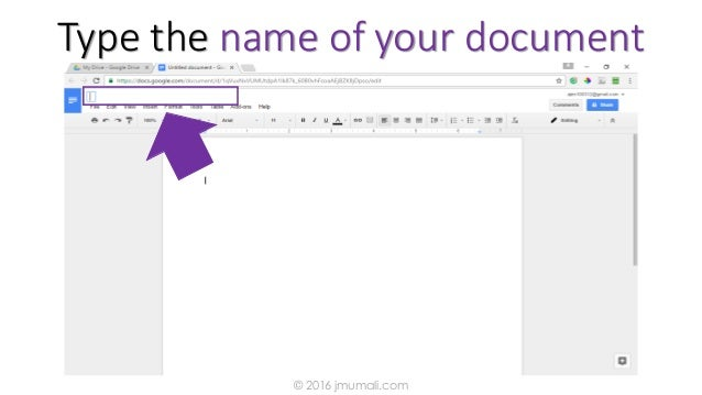 Type the name of your document © 2016 jmumali.com