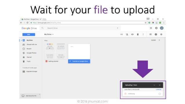 Wait for your file to upload © 2016 jmumali.com