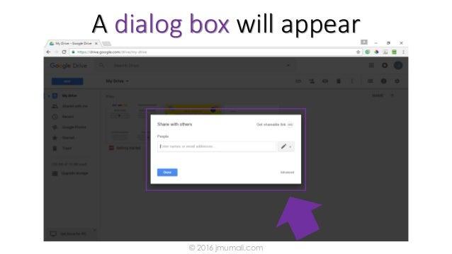A dialog box will appear © 2016 jmumali.com