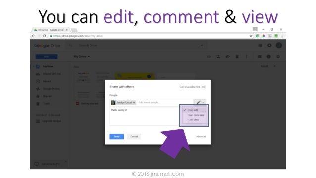 You can edit, comment & view © 2016 jmumali.com