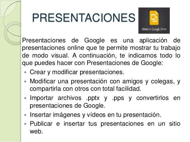 google drive diapositivas
