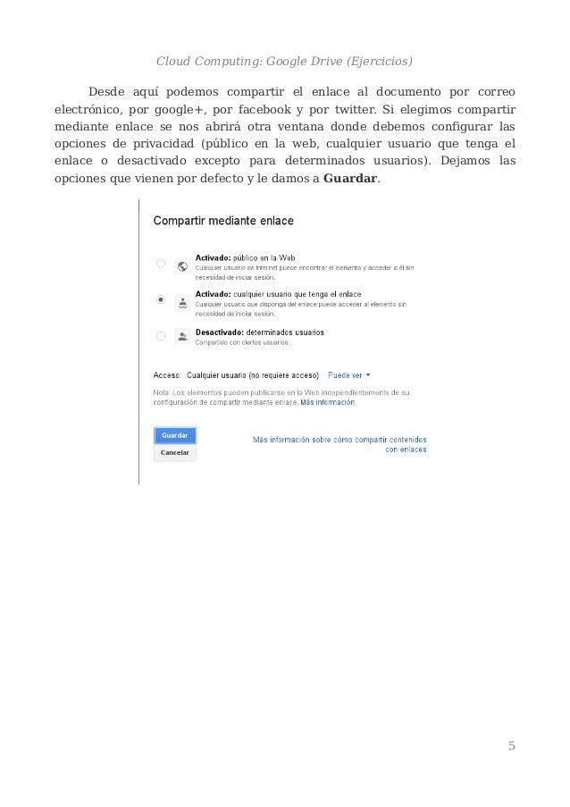 Cloud Computing : Google Drive Ejercicios - Lessons - Tes Teach