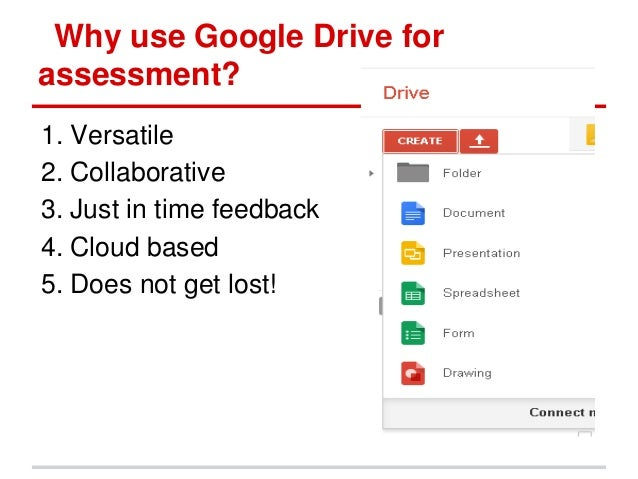 Google drive for formative assessment  Slide 3