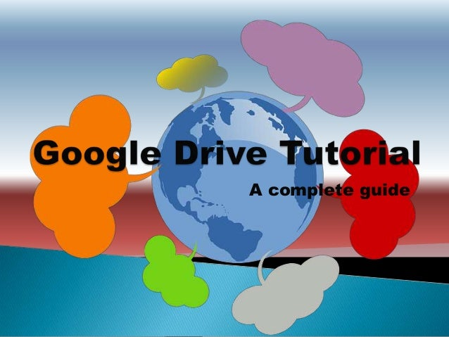 how to use google drive tutorial pdf