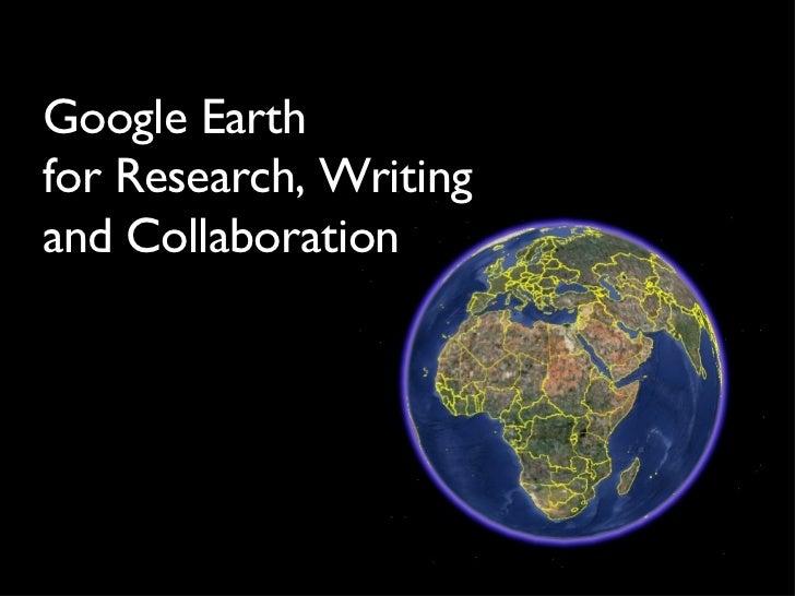 Google Earth Online Presentation
