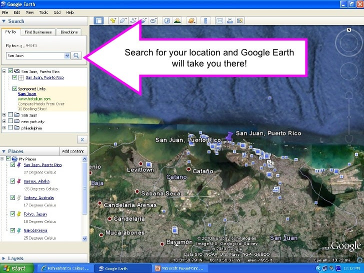 how to add a location on google earth