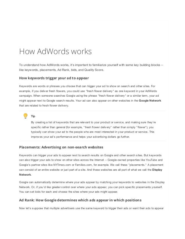 Google Adwords Certification Study Guide Choice Image