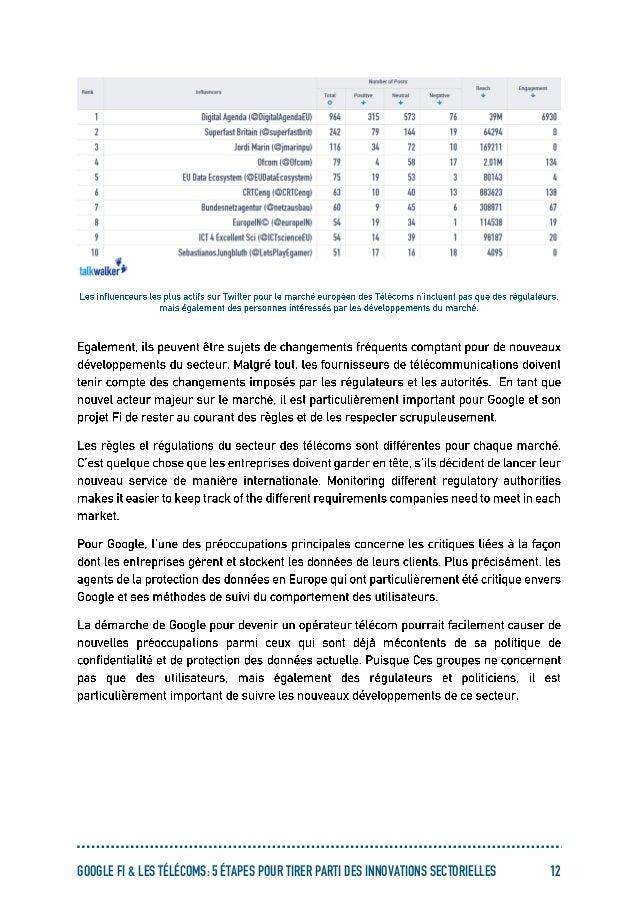 GOOGLE FI & LES TÉLÉCOMS: 5 ÉTAPES POUR TIRER PARTI DES INNOVATIONS SECTORIELLES 12
