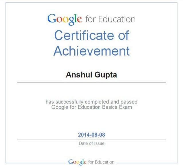 Google for education basic exam  anshul gupta