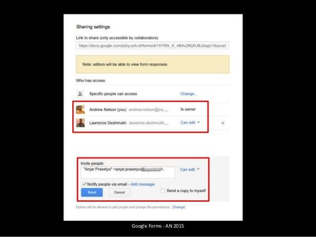 Google Forms - AN 2015