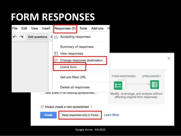 FORM RESPONSES Google Forms - AN 2015