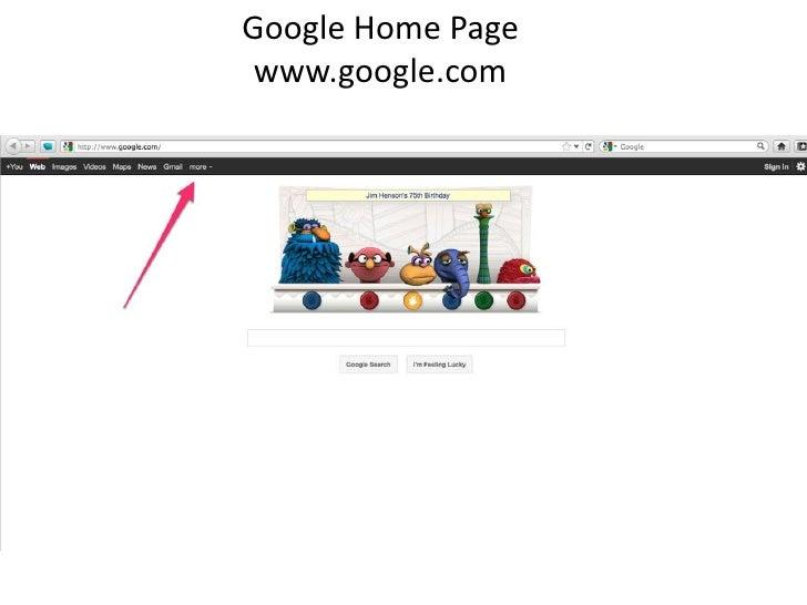 Google Home Page<br />www.google.com<br />
