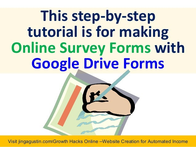 how to make online survey using google