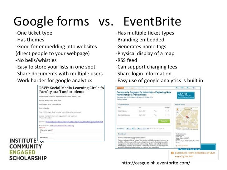 Google forms vs. eventbrite