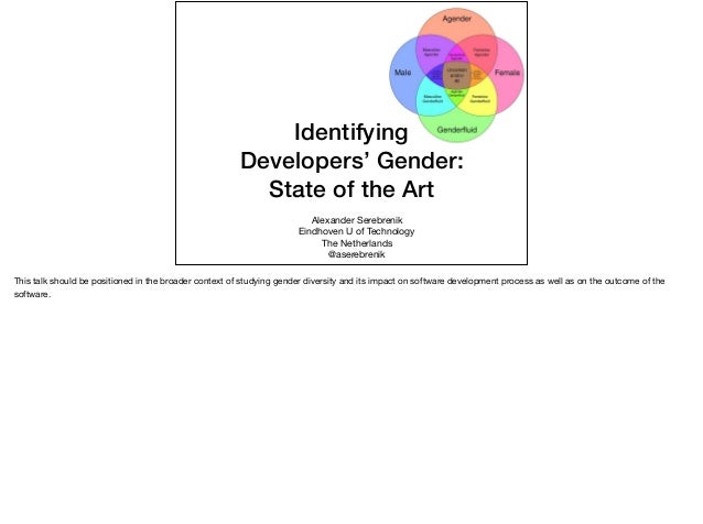 Alexander Serebrenik  Eindhoven U of Technology  The Netherlands   @aserebrenik Identifying Developers' Gender: State of t...