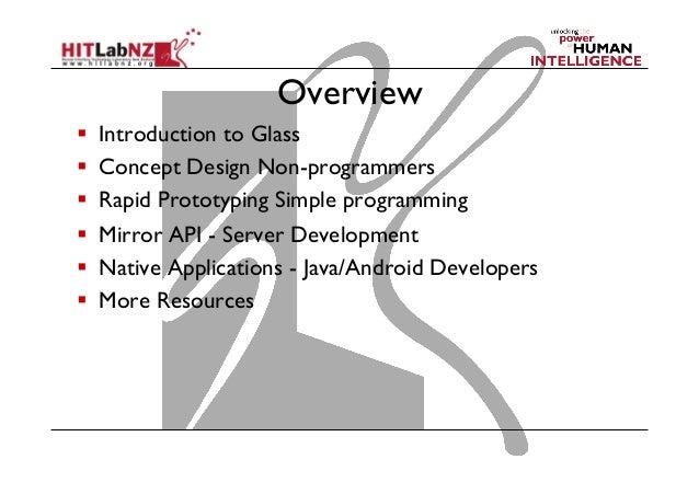 Developing for Google Glass Slide 3