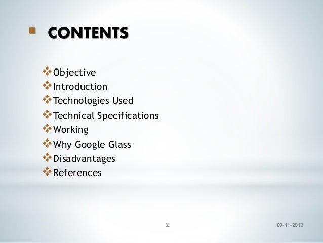 Google glass ppt Slide 2