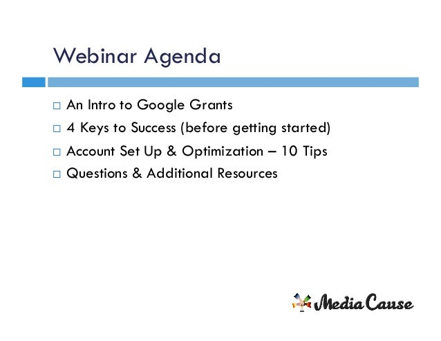 Google Grants: The Biggest Missed Opportunity in Non-Profit Marketing Slide 3