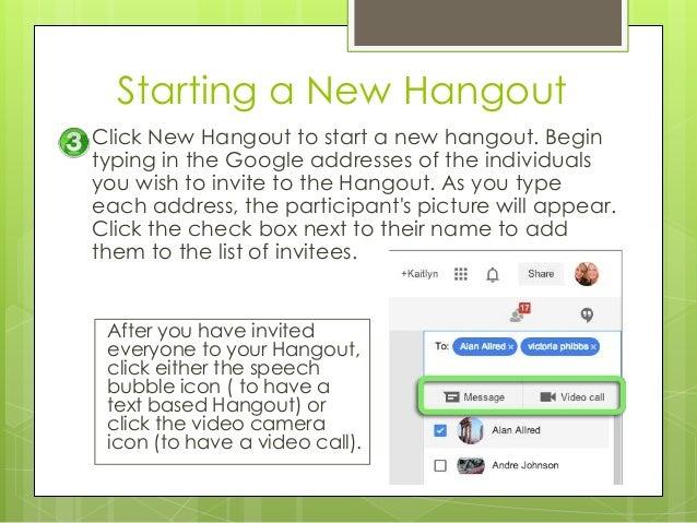 hangouts инструкция пользователя