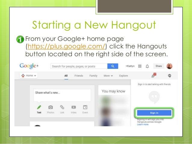 Hangouts пользователя инструкция