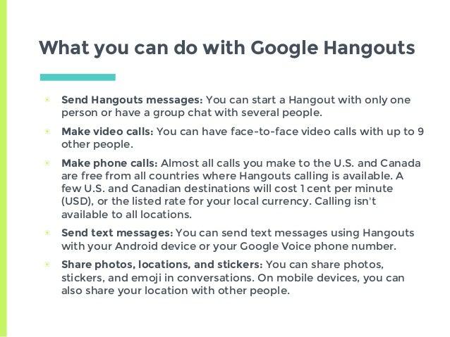 Google Hangouts (for dummies)