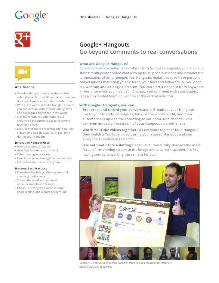 One sheeter | Google+ Hangouts                                               Google+ Hangouts                             ...