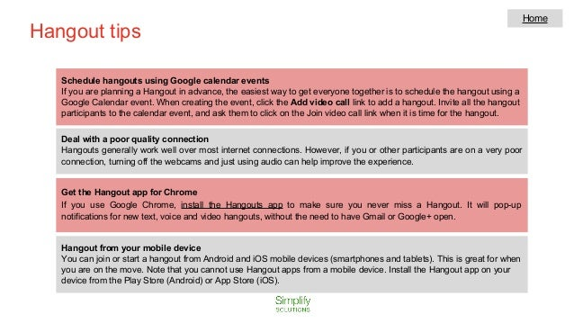 Google hangout tutorial