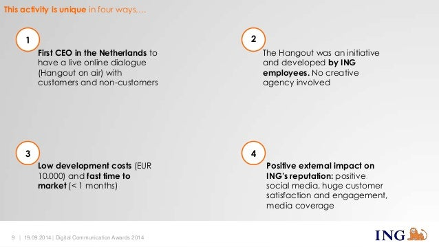 This activity is unique in four ways….  First CEO in the Netherlands to  have a live online dialogue  (Hangout on air) wit...