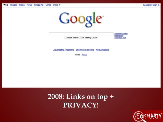 2008: Links On Top + PRIVACY!