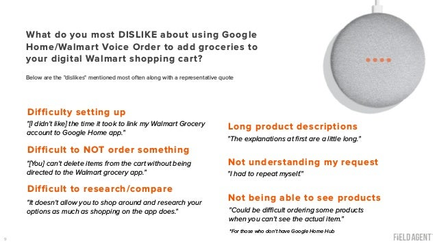 Walmart Voice Order: Google Home User Experience