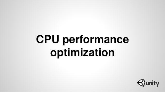 CPU performance optimization