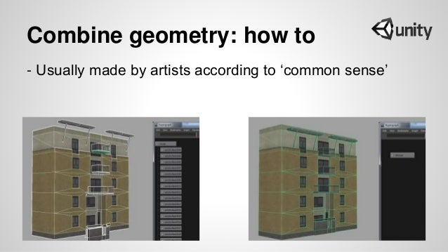 Combine geometry: how to - Usually made by artists according to 'common sense'