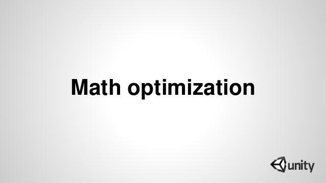 Math optimization