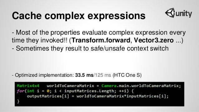 Cache complex expressions - Most of the properties evaluate complex expression every time they invoked!! (Transform.forwar...