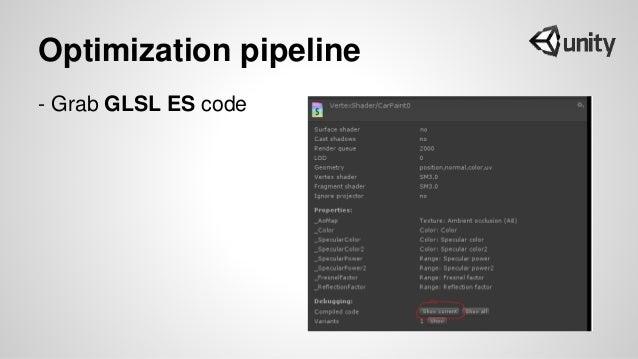Optimization pipeline - Grab GLSL ES code