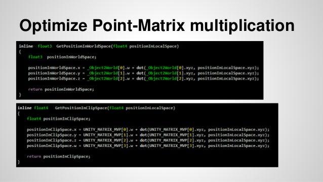 Optimize Point-Matrix multiplication