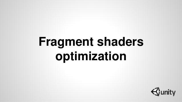 Fragment shaders optimization
