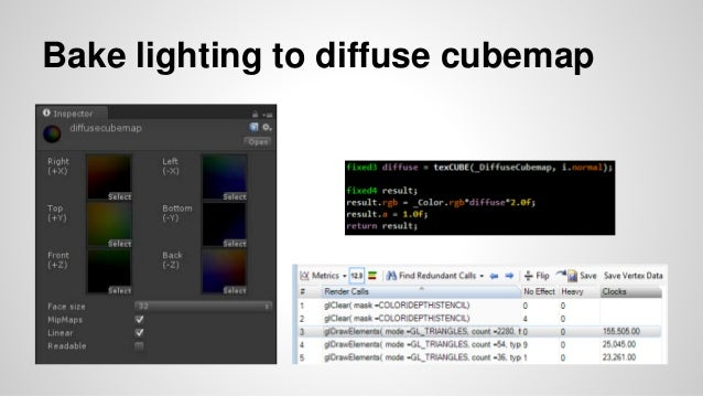 Bake lighting to diffuse cubemap
