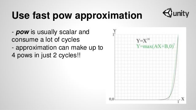 Use fast pow approximation - pow is usually scalar and consume a lot of cycles - approximation can make up to 4 pows in ju...