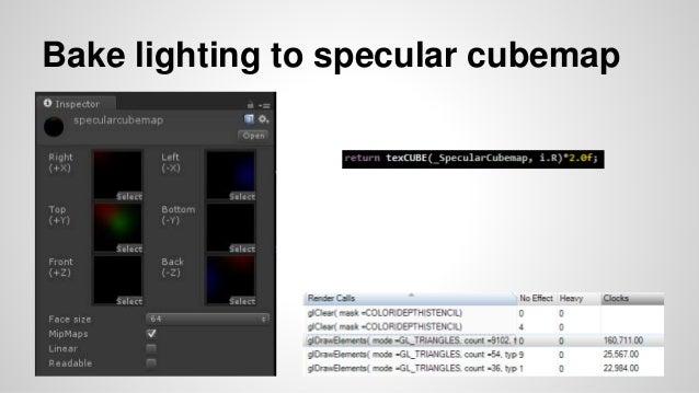Bake lighting to specular cubemap