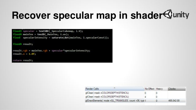 Recover specular map in shader