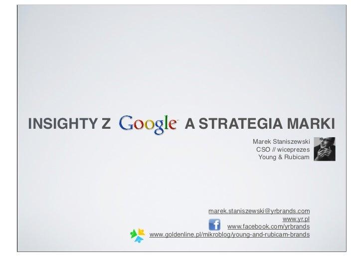 INSIGHTY Z              A STRATEGIA MARKI                                               Marek Staniszewski                ...