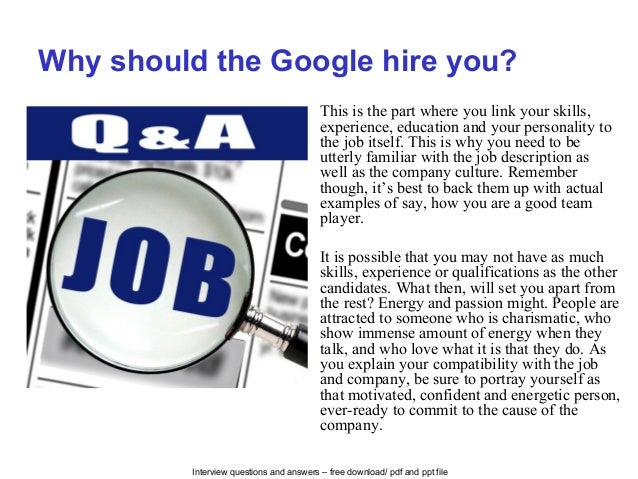 Google interview questions and answers