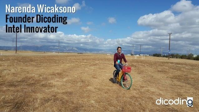 Narenda Wicaksono Founder Dicoding Intel Innovator