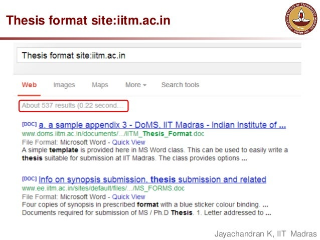 iitm ms thesis format